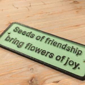 アイアンサインプレート FRIENDSHIP|abracadabra