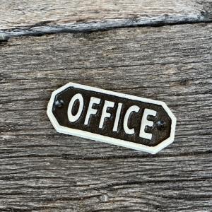 ブラックサインプレート OFFICE|abracadabra