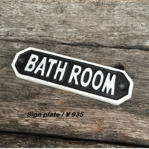 ブラックサインプレート BATH ROOM|abracadabra