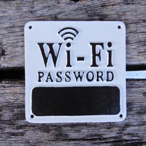 アイアンサインプレート Wi-Fi password|abracadabra
