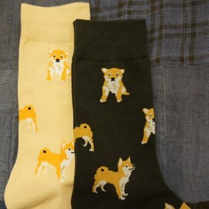 TOPANGA FASHION 柴犬ソックス 2色|abracadabra