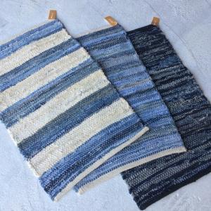 デニム裂き織りスモールマット 40×60cm 全3種|abracadabra