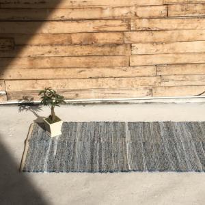 デニム裂き織りキッチンマット 50×180cm 全3種|abracadabra
