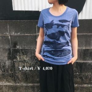 ハンドプリントTシャツ くじらの仲間|abracadabra