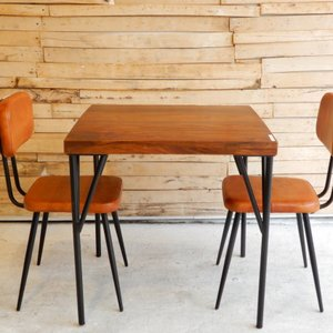 TOPANGA シーシャムウッドダイニングテーブル W75xD75xH75cm 【送料無料】|abracadabra