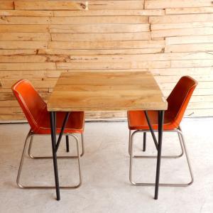 TOPANGA マンゴーウッドダイニングテーブル W75xD75xH75cm 【送料無料】|abracadabra