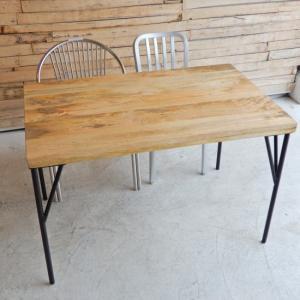 TOPANGA マンゴーウッドダイニングテーブル W120xD75xH75cm|abracadabra