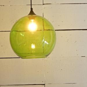 TOPANGA ガラスボール2灯ペンダントランプ グリーン|abracadabra
