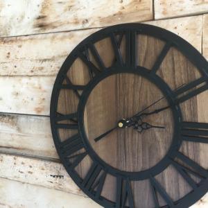 TOPANGA Wall Clock Retro Black abracadabra