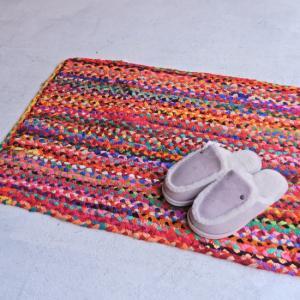 カラフル裂き編みスモールマット  60×90cm|abracadabra