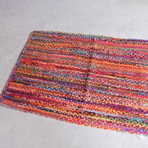 カラフル裂き編みフロアマット 90×150cm|abracadabra