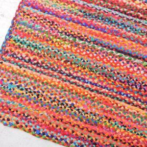 カラフル裂き編みフロアマット 140×200cm|abracadabra