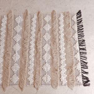 TOPANGA INTERIOR 手織りのコットンフロアマット イフレン 80×150cm|abracadabra