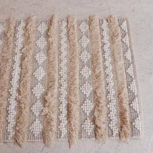 TOPANGA INTERIOR 手織りのコットンフロアマット シャウエン 80×150cm|abracadabra