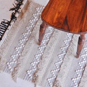 TOPANGA HOMEFURNISING 手織りのコットンフロアマット ベンゲリル 75×250cm|abracadabra
