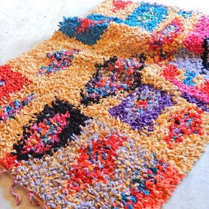 TOPANGA INTERIOR 手織りのカラフルフロアマット フェズ 120×180cm|abracadabra