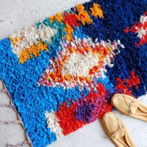 TOPANGA INTERIOR 手織りのカラフルスモールマット メリリャ 60×90cm|abracadabra