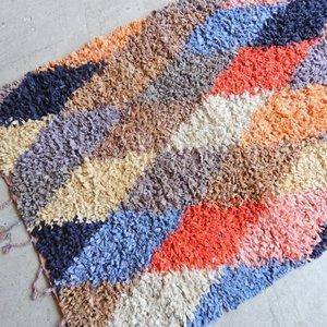 TOPANGA INTERIOR 手織りのカラフルフロアマット ナドール 120×180cm|abracadabra