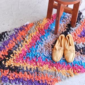 TOPANGA INTERIOR 手織りのカラフルスモールマット アシラー  60×90cm|abracadabra