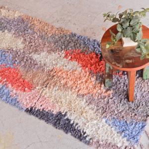 TOPANGA INTERIOR 手織りのカラフルフロアマット ティンジル 120×180cm|abracadabra