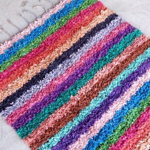 TOPANGA INTERIOR 手織りのカラフルフロアマット ジェラダ 130×180cm|abracadabra