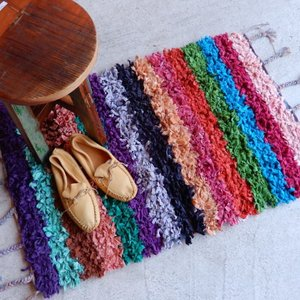 TOPANGA INTERIOR 手織りのカラフルスモールマット ターザ  60×90cm|abracadabra