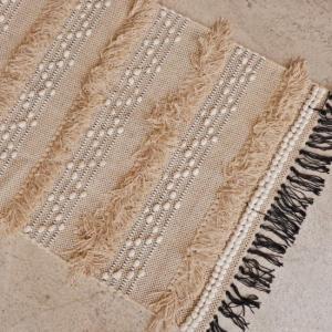 TOPANGA INTERIOR 手織りのコットンスモールマット ララシュ 60×90cm abracadabra