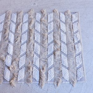 TOPANGA INTERIOR 手織りのコットンフロアマット ケミセット 80×150cm|abracadabra