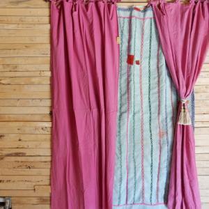 Topanga ヘビーコットンカーテン 110x230cm ピンク|abracadabra