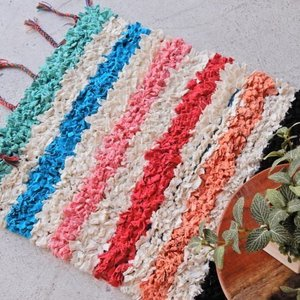 TOPANGA INTERIOR 手織りのカラフルスモールマット ヴォルビリス  60×90cm|abracadabra