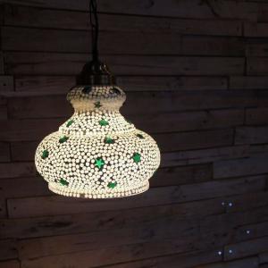 TOPANGA モザイクガラスランプ ラージドーム(スター)|abracadabra