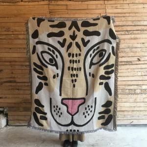 トラのお顔スローケット 120×150cm|abracadabra