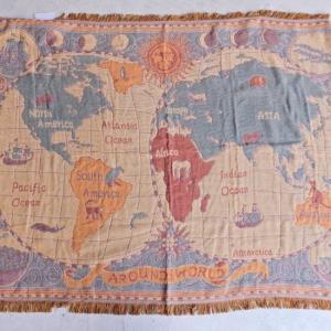 世界地図のスローケット 130×180cm|abracadabra