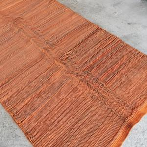 TOPANGA HOMEFURNISING ピンタックラグマット 80×220cm オレンジ|abracadabra