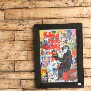 ストリートアートポスター(フレーム付き) A/ブラック|abracadabra