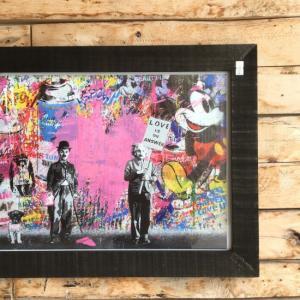 ストリートアートポスター(フレーム付き) C/ブラック|abracadabra