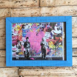 ストリートアートポスター(フレーム付き) C/ブルー|abracadabra