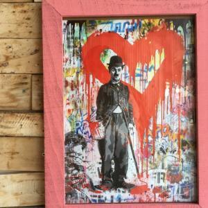 ストリートアートポスター(フレーム付き) E/ピンク|abracadabra