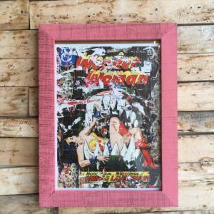 ストリートアートポスター(フレーム付き) F/ピンク|abracadabra