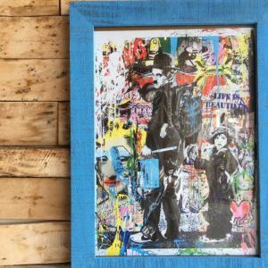ストリートアートポスター(フレーム付き) G/ブルー|abracadabra