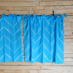TOPANGA Shibori Curtain シボリカーテン W110xH90cm 青|abracadabra
