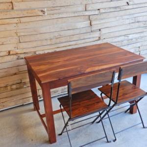TOPANGA シーシャムウッドダイニングテーブル W120xD75xH76cm|abracadabra