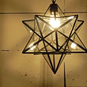 TOPANGA 70's STAR LAMP Big Star Glass Pendant Lamp クリアガラス|abracadabra