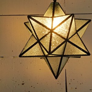 TOPANGA 70's STAR LAMP Big Star Glass Pendant Lamp デザインガラス|abracadabra