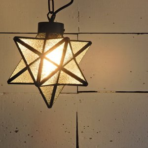 TOPANGA 70's STAR LAMP Small Star Glass Pendant Lamp デザインガラス|abracadabra