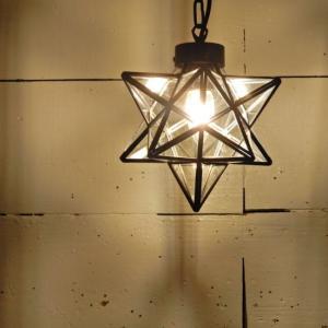 TOPANGA 70's STAR LAMP Small Star Glass Pendant Lamp クリアガラス|abracadabra