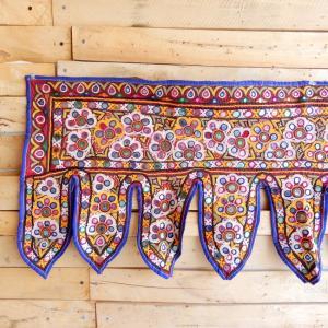 グジャラートミラー刺繍トーラン タイプF|abracadabra