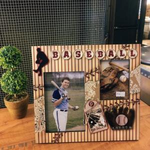 デコレーションフォトフレーム ベースボール|abracadabra