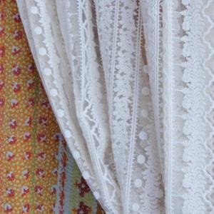 フラワーレースカーテン 105x180cm|abracadabra