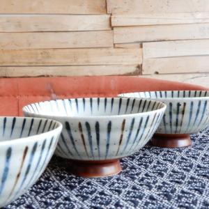 美濃焼 刷毛巻十草 丸型大平茶碗 13cm|abracadabra